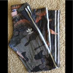 Adidas Originals Rita Ora Geisha kimono leggingsXS